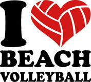 I beach volley del cuore Immagine Stock
