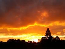 I bei cieli dei Paesi Bassi Fotografia Stock