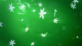 Fiocchi Di Neve Di Carta 3d : I bei fiocchi di neve d volano in aria su un fondo verde uso come