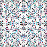 I bei fiori astratti su un effetto bianco di lerciume del fondo vector l'illustrazione Fotografie Stock Libere da Diritti