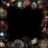 I bei fuochi d'artificio esplodono Fotografia Stock Libera da Diritti