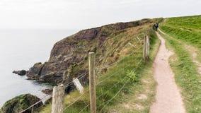 I bei litorali verdi dell'Irlanda durante il tempo di molla immagine stock