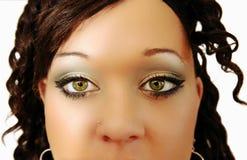 I bei occhi di una donna. Fotografia Stock