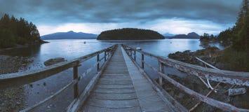 I bei scapes scenici di Vancouver e di Fraser Valley Immagini Stock Libere da Diritti