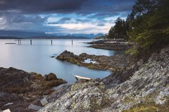I bei scapes scenici di Vancouver e di Fraser Valley Fotografia Stock
