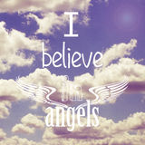 I believe in angels poster design Stock Photography