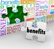 I benefici forano nel pezzo Poin di vendita unico completo di puzzle della parete Immagini Stock