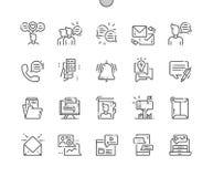 I beni di dialogo Ben-hanno elaborato la linea sottile icone di vettore perfetto del pixel illustrazione di stock