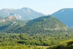 I bergen av Montenegro Arkivbild