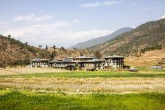 By i Bhutan Royaltyfri Fotografi