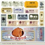 I biglietti ammettono uno illustrazione di stock