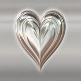I biglietti di S. Valentino d'argento metal il cuore illustrazione vettoriale
