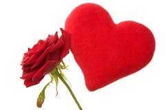 I biglietti di S. Valentino sono aumentato fotografia stock