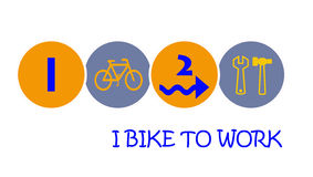 I bike to work Stock Images