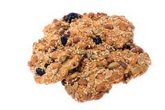 I biscotti con le noci hanno isolato. Immagini Stock Libere da Diritti