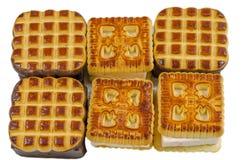 I biscotti, cuociono, al forno, dessert, forno, lo zucchero, dolce, saporito Fotografie Stock Libere da Diritti