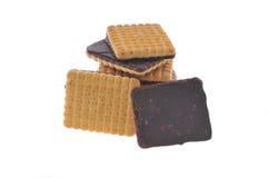 I biscotti del cioccolato hanno isolato Immagini Stock Libere da Diritti