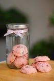 I biscotti di strawbery immagini stock libere da diritti