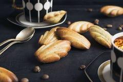 I biscotti francesi Madeleine Fotografie Stock