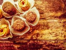 I biscotti scremano con di pepita di cioccolato Fotografia Stock