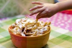 I biscotti sono nella zolla Fotografia Stock