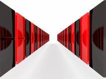 I blocchetti neri e rossi isolati di domino Fotografia Stock Libera da Diritti