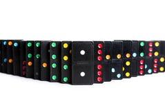 Barriera di domino Fotografie Stock Libere da Diritti