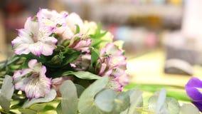I blomsterhandeln arkivfilmer