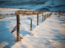 I blu dell'inverno recintano Line fotografia stock
