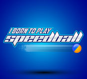I born to play Speedball Stock Photo