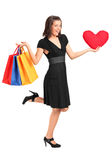 I bought presents for valentine Stock Photo