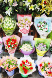I bouquetts variopinti del fiore Fotografia Stock Libera da Diritti