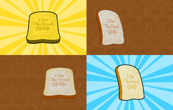 I am The Bread of Life Background Illustration Stock Photos