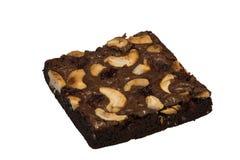 I brownie deliziosi di un cioccolato agglutinano dalla mia moglie del ` s dell'amico fotografia stock libera da diritti