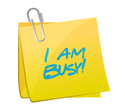 I am busy post messages illustration design Stock Photo
