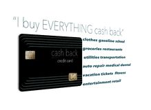 I buy everything with a cash back credit card. Why not? It`s free money and here is an illustration that makes that point. royalty free illustration