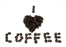 I café de coeur Photo libre de droits