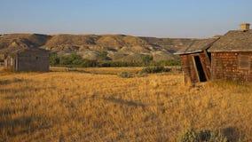I calanchi canadesi di Drumheller, Alberta Fotografie Stock