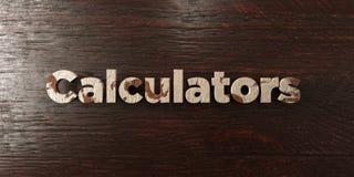 I calcolatori - titolo di legno grungy sull'acero - 3D hanno reso l'immagine di riserva libera della sovranità royalty illustrazione gratis