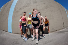 I came, I saw, I ran!. Pretty female runner poses for her me shot Stock Photo