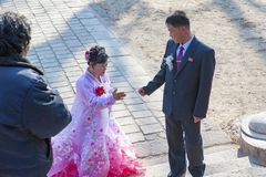 The wedding of Kaesong Cheng Jun Museum,North Korea royalty free stock images
