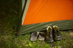 I campeggiatori fotografia stock