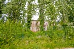 I campi di agricoltura di Emilia Romagna Fotografie Stock