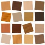 I campioni di legno hanno sistemato senza bloccare i tipi di parquet Fotografia Stock