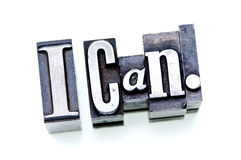 I Can. Stock Image