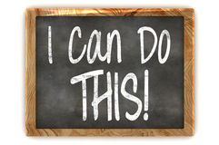 I Can Do This Concept Blackboard Royalty Free Stock Photo