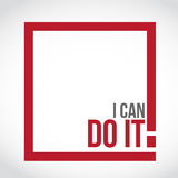 I can do it square sign concept illustration Royalty Free Stock Photo