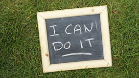 I can do it Royalty Free Stock Photo