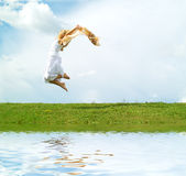 I can fly! Stock Images