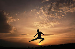 I can fly. Photo of a healty woman Stock Images